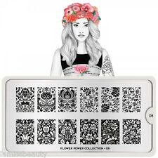 MoYou London FLOWER POWER 8 Collection Stamping Schablone Ranke Blume XL