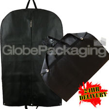 50 x PREMIUM LUXURY BLACK SUIT GARMENT CLOTHES TRAVEL COVERS WITH HANDLES *24HRS