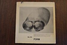 Form by Max Bill, 1952 Hardcover Collectible Vintage Printed in Switzerland