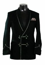 Men Elegant Luxury Stylish Designer Green Smoking Jacket Party Wear Blazer