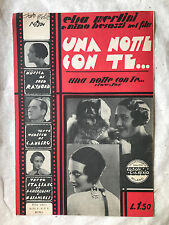 SPARTITO MUSICALE UNA NOTTE CON TE SLOW-FOX MUSICA DI FRED RAYMOND 1932