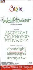 Sizzix Sizzlits Alphabet Set WALLFLOWER Upper & Lower