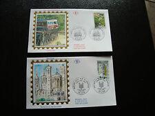 FRANCE - 2 enveloppes 1er jour 1996 (fourviere-train ajaccio/vi) (cy21) french