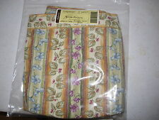 New Longaberger Round Potluck Basket Liner/Botanical Fields Stripe