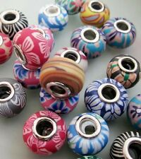 15Pcs Polymer Clay Flower Beads Finding