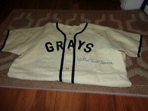 Buck Leonard Signed Jersey Homestead Grays Negro League Baseball Autograph Auto
