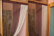 Gardine Fadenstore Fadenvorhang Faden  Tür Fenster Vorhänge B 90 x H 200 cm