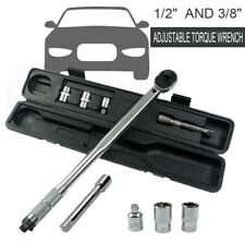 """New 5Pc 1/2"""" & 3/8"""" Drive Torque Ratchet Wrench Micrometer 28-210nm Adjustable"""