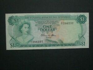 **Scarcer** Central Bank Bahamas $1 Allen 1974 'VF'++ Banknote*****