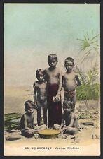 Singapore vintage color postcard Young Hindoos
