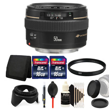 Canon EF 50mm f/1.4 USM Lens + 32GB Accessory Kit for Canon 1200D 1300D 700D