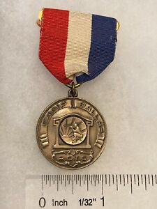 Authentic Pre WWII US ROTC Camp Dallas Shooting Medal STERLING BALFOUR