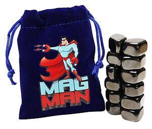 Mag Man Hematite Magnetic Stones 12 Tumbled Polished Magnet