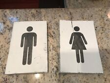 His and Her Bathroom wall art on wood