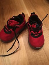 RRP £30 Baby Girl Boy Red Adidas Eco Ortholite Trainers  UK 3 / EU 19
