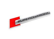 1PCS SUPERCHARGED Aluminium Sticker Emblem Car Rear Wind Side Decal Badge Red