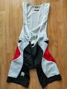 Sportful Professional Men's Cycling Bib Shorts White/Red,Black  Size: L