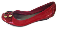 Jessica Simpson Womens Wedge Heels Red with Buckle Shiny Cute Size 9B