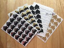 Auto-adhesivo pegatinas de esquina foto FOTO ESQUINAS MONTAJES Scrapbook Oro Plata