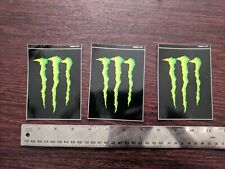 Lot of 3 Single Authentic Monster Energy Logo Stickers