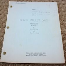 DEATh Valley DAYS TV SERIES SHOW SCRIPT DEVIL'S BAR PERSONALLY JOE CONLEY