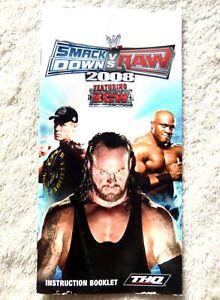 74174 Instruction Booklet -  WWE Smackdown Vs Raw 2008 - Sony PSP (2007) ULES 00