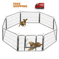 Portable Dog Kennel Playpen Exercise Puppy Fence Heavy Duty Play Yard 32 24 40