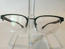 Burberry B1308 Men's Semi Rimless Eyeglass Frame 1222 Matte Green 54-19 Italy