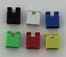 """5/10/20 1x2 2 Pin Jumper Shunt Cap 2.54mm 0.1"""" Pitch Black/Colors Usa Comb Ship"""