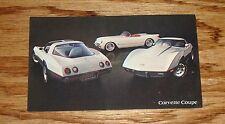 Original 1978 Chevrolet Corvette Coupe Post Card 78 Chevy