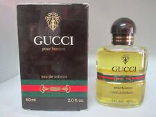 VINTAGE Gucci Pour Homme 2 Fl oz Eau De Toilette Splash For Men RARE