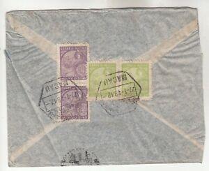 Macau-China Airmail Cover w/ side cut, crease