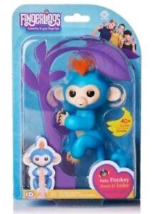 Fingerlinge Baby Affe WowWee Boris ( Blau Fingerling W / Orange Haar)