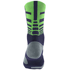 Nike Elite Sequalizer Crew Socks Blackend Blue SX4747-466 L 8-12