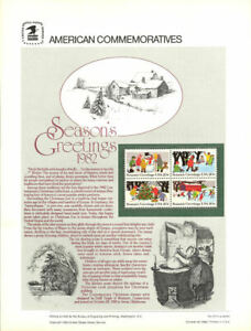 #177 20c Christmas 1982 #2027-2030a USPS Commemorative Stamp Panel