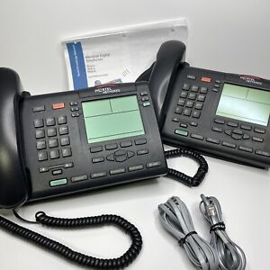 Lot of 2 Nortel Networks Meridian M3904 Office Telecom Telephone Phone Charcoal