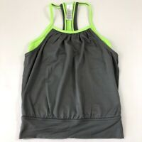 Ivivva Double Dutch Girls Tank Top - Gray/ Lime Size 4 -Lululemon