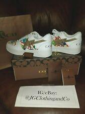 Bape x Coach Bapesta 2 White Multicolor M Size 10