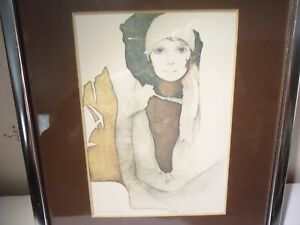 """SIMONE"" BY CHRISTINE ROSAMOND LITHOGRAPH MATTED AND FRAMED"