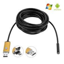 2in1 Android USB Endoskop Inspection Kamera 7mm 6 LED HD IP67 Waterproof 2/5/10M