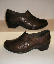 EARTH Origins ROCHESTER Women's Dark Brown Leather Dress / Casual Loafers 7 M