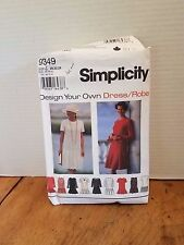 Vintage Simplicity Women's Pattern #9349 Size Z 20-24 dress robe  UNCUT