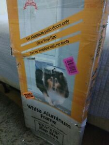 "NEW Open Ideal Pet Products 80"" Fast Fit Aluminum Pet Patio Door Panel XL Extra"