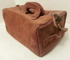Vintage Suede Leather Yidi Zipper Camera Bag Carry On Shoulder Handheld School