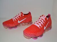 NEW NIKE AIR VAPORMAX FLYKNIT 3 WOMEN'S RUNNING SHOES SIZE 6 RED PINK CU4756-600