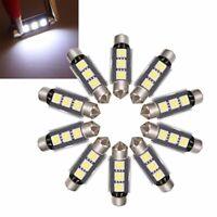 10x 39mm 3 LED 5050 SMD C5W CANBUS Error Free Festoon Dome Light Lamp Bulb White