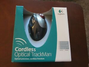 Logitech  TrackMan Cordless Optical Mouse 904369-0403. Never pulled out of box.