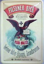 Blechschild Schild 20x30 cm - Pilsener Bier Berliner Adler Brauerei Werbung