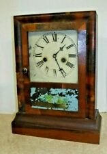 ANTIQUE E.N. WELCH, CONNECTICUT EXTRA COTTAGE STRIKE CLOCK WORKING c.1850