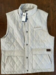 $198 Polo Golf Ralph Lauren Spyglass Vest Grey Mens Size XL Quilted NEW NWT